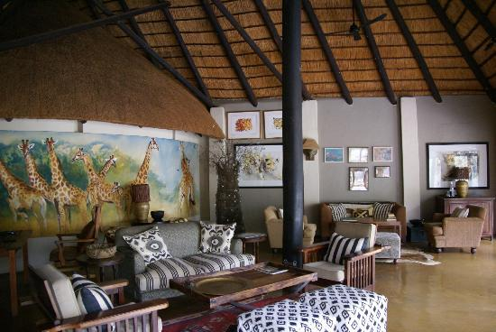 Motswari Private Game Reserve: Library area