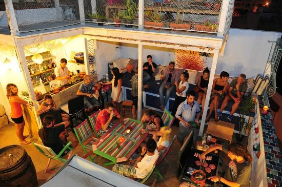 Hostel Malti: Roof terrace cocktail bar