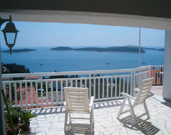 Villa Petricic: View from ground floor terrace
