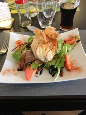 Restaurant Les 3B: salade de chèvre chaud