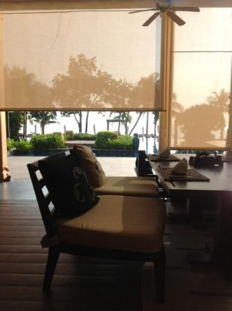 Movenpick Asara Resort & Spa Hua Hin: view of pool from restaurant/buffet area
