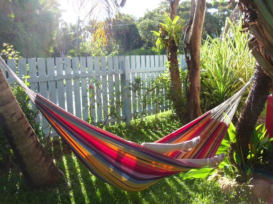 Garden Cabanas: Hammock outside of red cabana