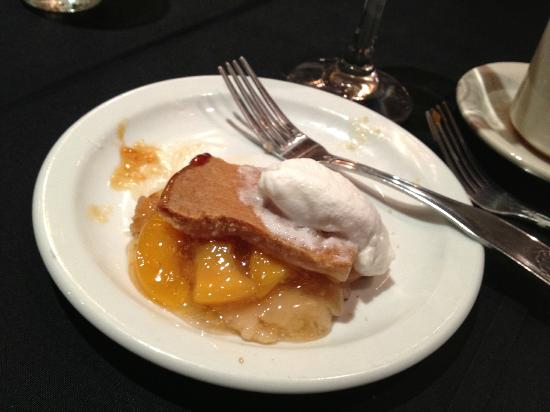 Stone Hearth Restaurant: peach cobbler - sorry - I already ate most of it!