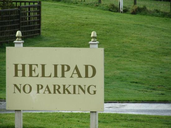 Cornhill Castle Hotel: the Helipad...... not the car park!