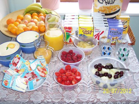 Jonti Bed and Breakfast Corfe Castle : Seasonal fruit and cereals