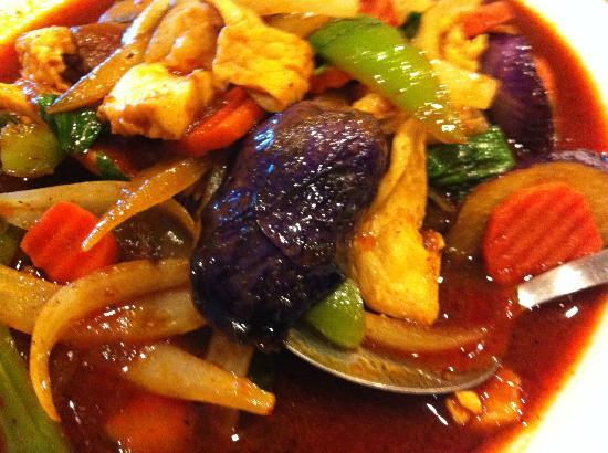 Line Thai Resteraunt: Eggplant with Chicken