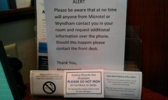 Microtel Inn & Suites by Wyndham Hattiesburg: Here are all of the things you are told not to do