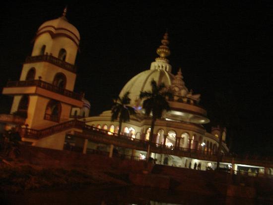 ISKCON Chandrodaya Temple: Outside View @ Night