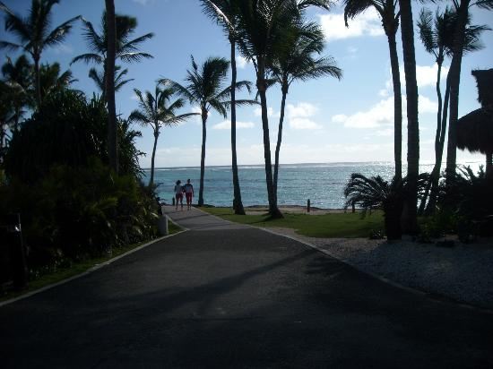Club Med Punta Cana: entre les chambre et le centre du club