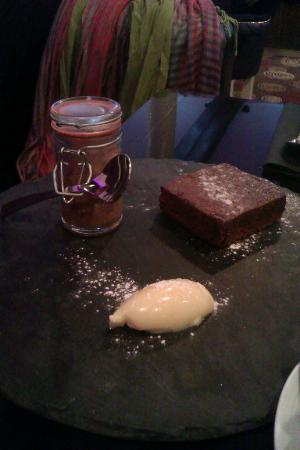 Browns at The Quay: A sample of one of the lovely desserts, a delicious brownie.
