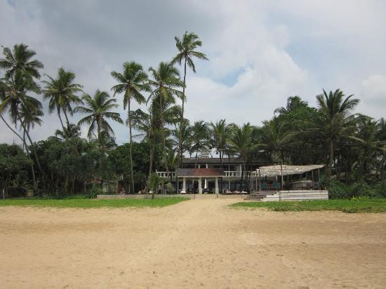 Suite Lanka : Ausblick vom Strand aufs Hotel