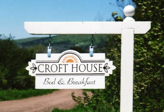 Croft House Bed & Breakfast: Sign