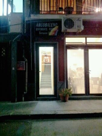 Pizzeria trattoria  - Arcobaleno: Back door off of water front road one level down