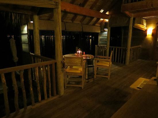 Gili Lankanfushi: Night time Villa dining