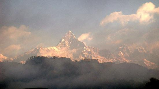 Hotel Lovely Mount: Machapuchre as seen early morning from Lovely Mount .