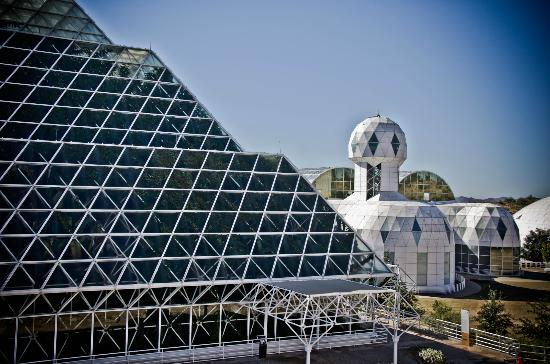 Biosphere 2: view of the some buildingd