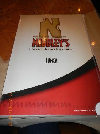 Nibbley's: menu