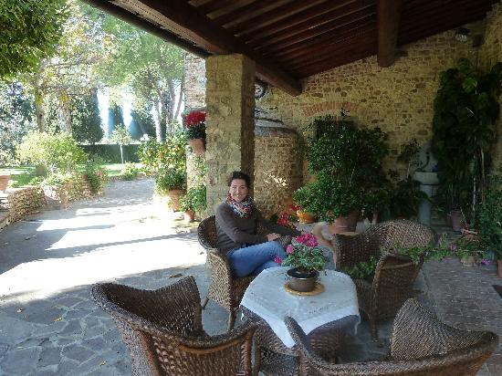 Villa Le Torri: one of the many cosy places at Le Torri