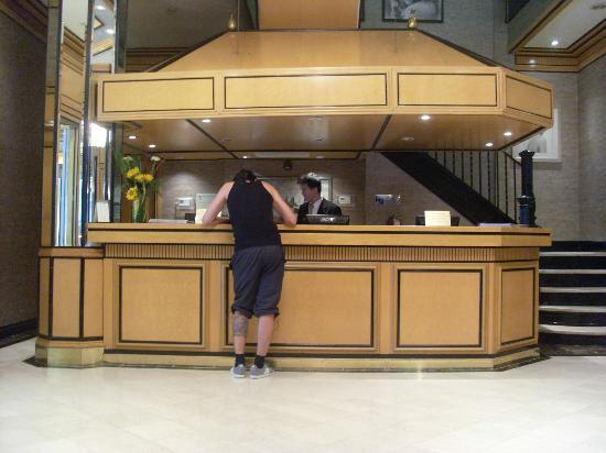 Hotel Metro: De receptie