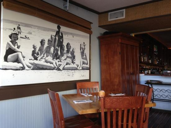 Hucks Lowcountry Table: charming beach photo from the 50's