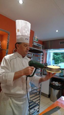 Ecole Lenotre: Chef Phillipe -instructor for Millefeuille class