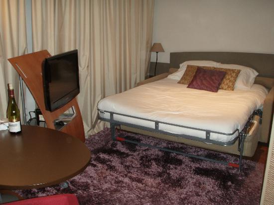 Adagio City Aparthotel Nantes Centre : The sleeping area