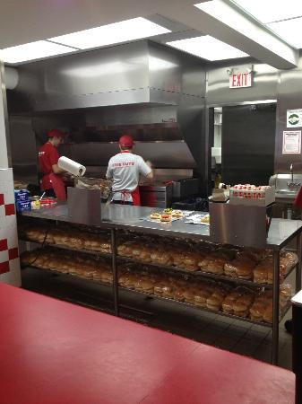 Kitchen at Five Guys Burgers