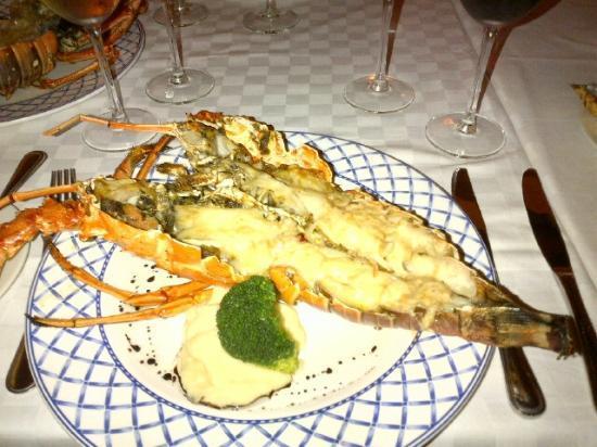 Blau Marina Varadero Resort: Lobster dinner.