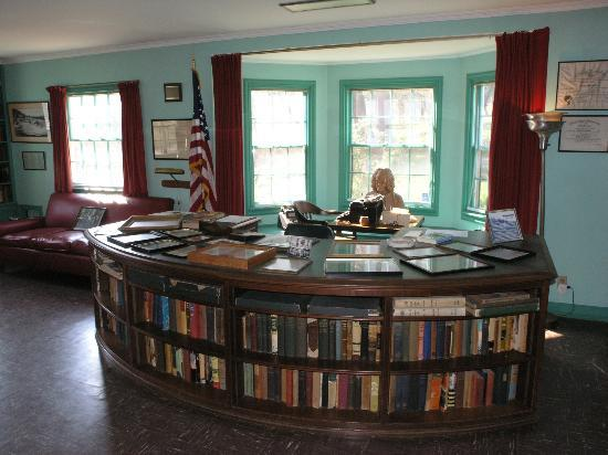 Malabar Farm State Park: Louis Bromfield's desk in his office (NOV 9 2012)