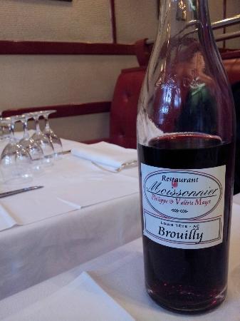 Moissonnier : House wine