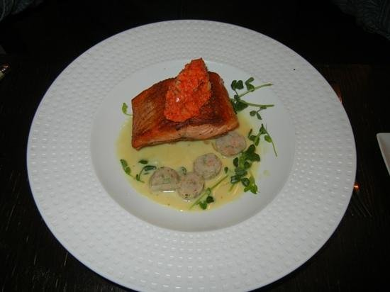 Truffles Bistro: steelhead trout and scallops in pernod creme.