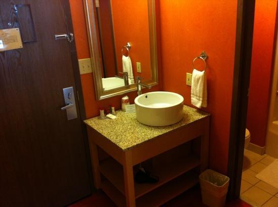 Ramada Glenwood Springs: vanity / restroom area