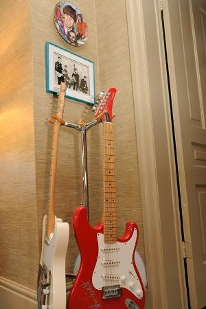 The Blue Spruce B&B: Autographed guitars (and Beatle autographs, too)