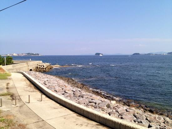 Morozaki: 左【日間賀島】右【篠島】が見えます