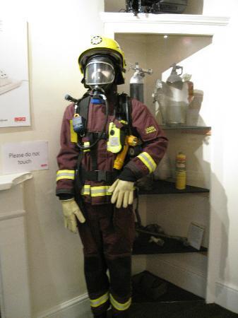 The London Fire Brigade Museum: Old Firefighter gear