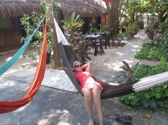 Secret Garden Hotel: hammocs/garden