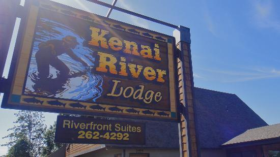 Kenai River Lodge sign