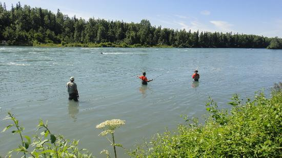 Kenai River Lodge: Great fishing day!