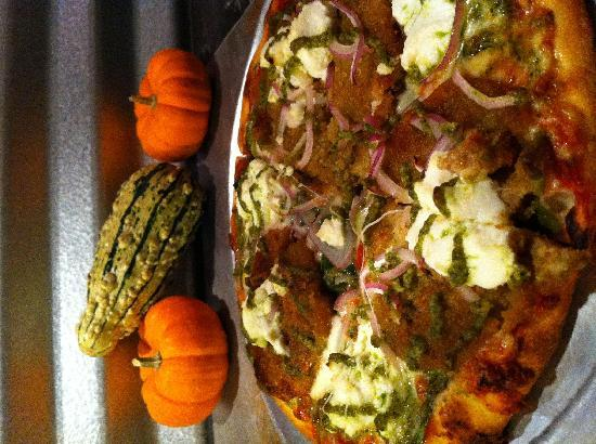 Tavola Pizza: Eggplant Pesto Pizza