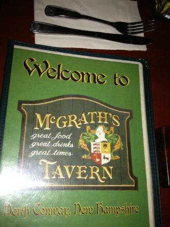 McGrath's Tavern: menu