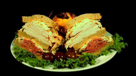 Mitch's Westside Bagels Too: Two meat deli sandwich!!!