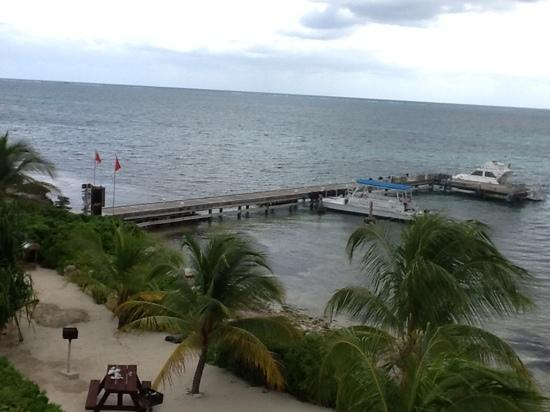Compass Point Dive Resort: view from the balcony of our condo