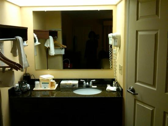 Baymont Inn & Suites Roanoke Rapids: Vanity outside bathroom