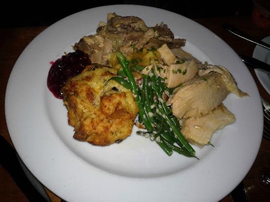 The Restaurant at Alderbrook : Turkey dinner at Thanksgiving