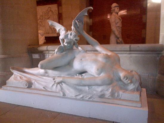 Musee des Augustins: Cauchemar (nightmare depiction) sculpture