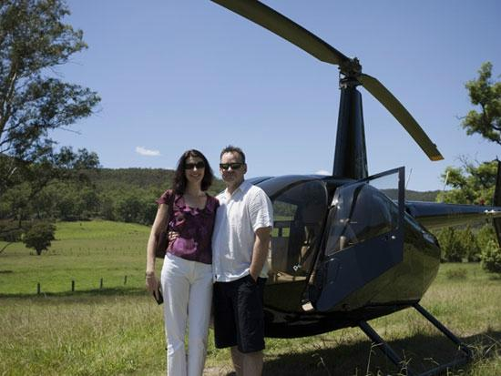 Somewhere Unique: Indulge with a helicopter lunch tour from the property