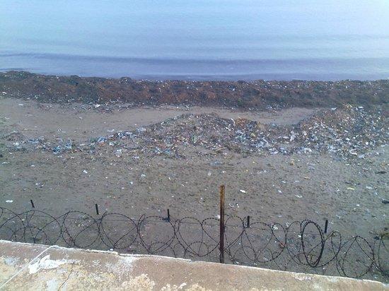 El Riadh Hotel: plage dégeulasse
