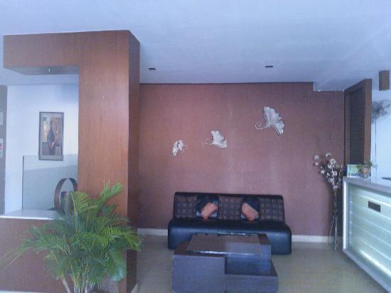 Hotel Aarian Aatithya: The lobby and entrance