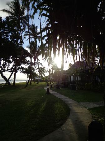 Naviti Resort: sunset from our vila