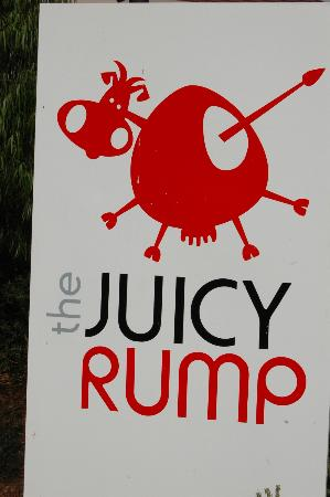 The Juicy Rump Sign Outside